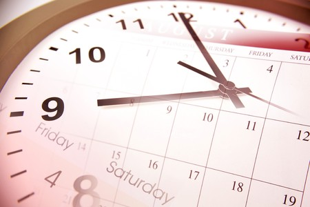 Clock face and calendars photo
