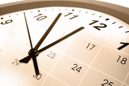 schedules: Cara de reloj y calendario compuesto