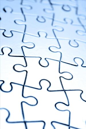 bonding: Closeup of complete jigsaw puzzle