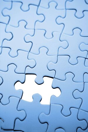 Piece missing from jigsaw puzzle  photo