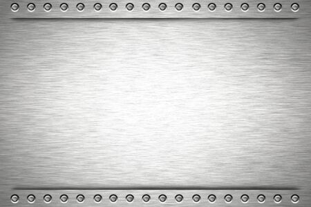 Rivets in brushed steel background Stock Photo - 8077365
