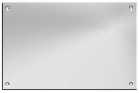 Brushed steel background isolated on white. Copy space Stock Photo - 8077359