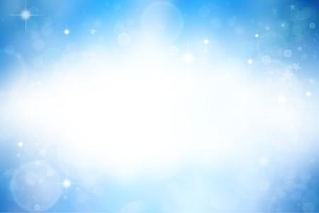 blue light: Stars on blue background. Copy space