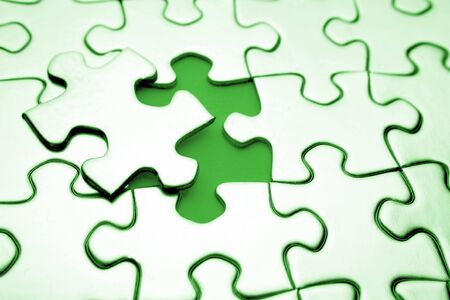 missing link: Last piece of jigsaw puzzle