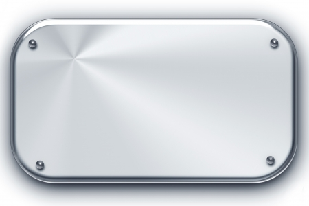 Brushed steel background isolated on white. Copy space Stock Photo - 8089660