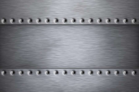 Rivets in brushed steel background Stock Photo - 8089694