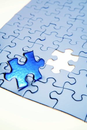 Last piece of jigsaw puzzle  Stock Photo - 8089725