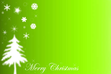 Christmas tree shape on green background. Copy space   Stock Photo - 8127425