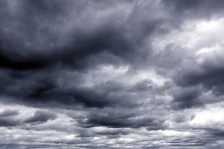 Dark ominous clouds. Dramatic sky. Stock Photo - 8198637