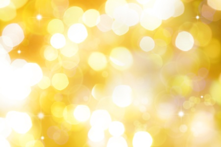 Blurred lights on yellow background photo