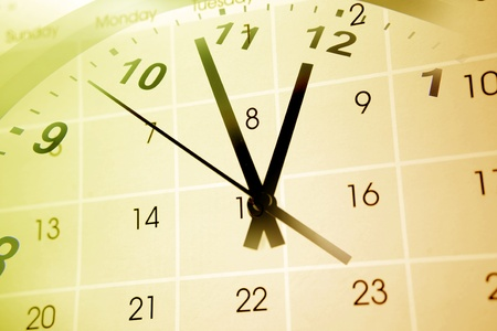 Clock face and calendar composite Stock Photo - 8266145