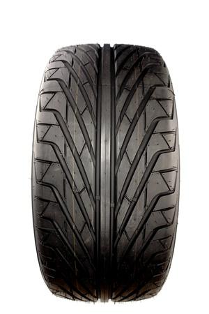 pneumatic: Auto tyre isolated on plain background   Stock Photo
