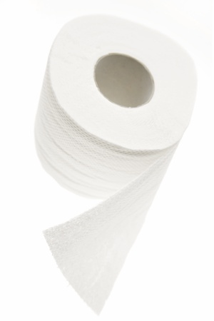 Toilet paper tissue on white Stock Photo - 8355292