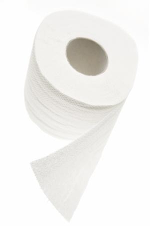 Toilet paper tissue on white Stock Photo - 8355292