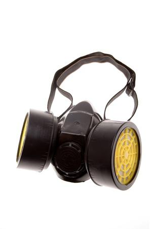 mask gas: Respirador aislado sobre fondo blanco
