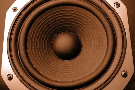 loud speaker: Closeup of stereo loud speaker