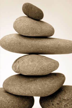 steadiness: Stack of river rocks   Stock Photo