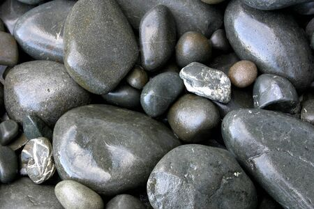 Closeup of assorted smooth stones Stock Photo - 8424499