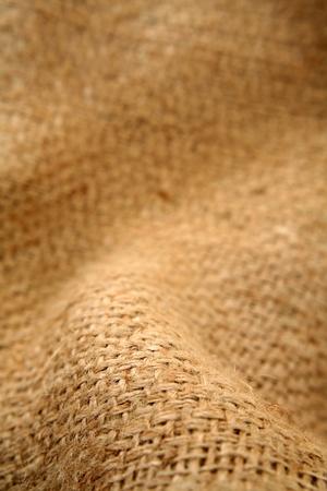 Close-up of natural burlap hessian sacking   photo