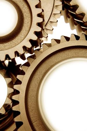 Three metal gears bonding together Stock Photo - 8625603