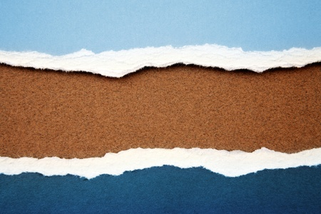 Ripped paper on brown background Stock Photo - 8672339