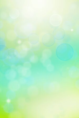 Blurry abstract green and blue tones background photo