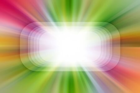 Bright blast of colorful light. Copy space photo
