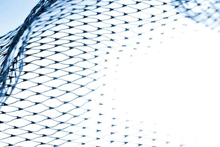 netting: Closeup of netting on white background