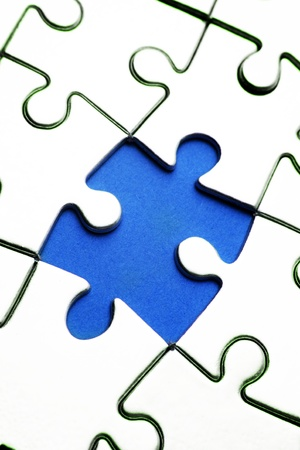 Piece missing from jigsaw puzzle  Stock Photo - 8753450