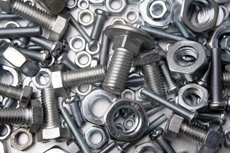 Assorted nuts and bolts close-up   photo