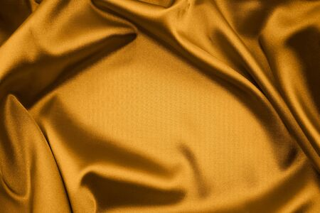 Closeup of folds in silk fabric   photo