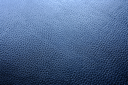 leathery: Close-up of blue leather surface