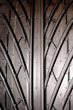 Closeup of rubber tire tread   Stock Photo - 9005752