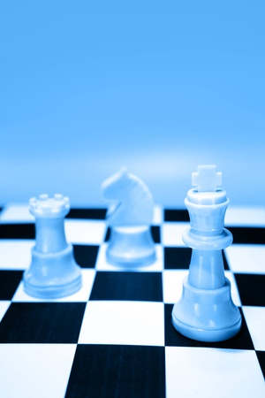 Chess pieces on board Stock Photo - 9186846