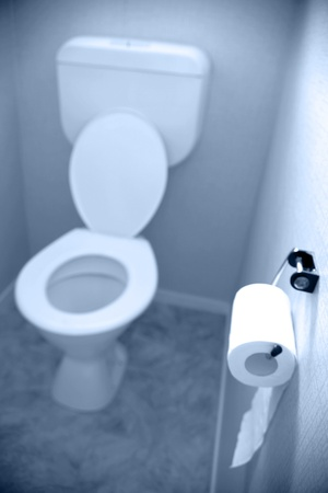 Tissue paper on wall in toilet Stock Photo - 9421469
