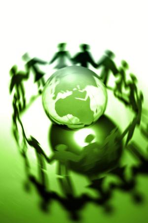Paperchain gens autour du globe