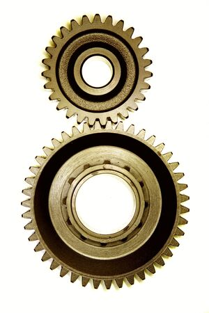 gearing: Two cogwheels together
