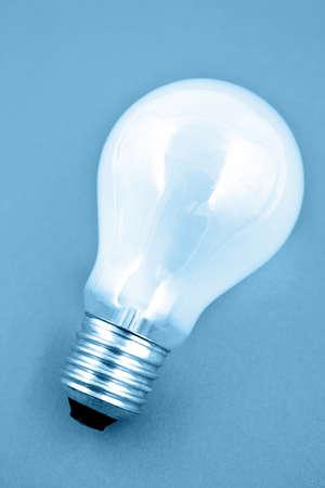 Lightbulb, blue tone photo