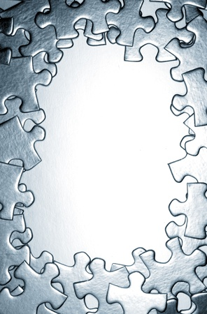 Jigsaw puzzle pieces photo
