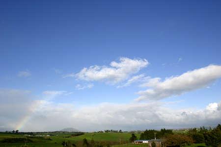 Blue sky over farmland Stock Photo - 9570189