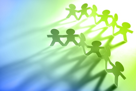 Group of paperchain people Stock Photo - 9570343