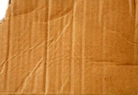 Closeup of cardboard surface photo