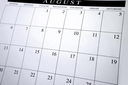 almanak: Close-up van de nummers op de kalender pagina