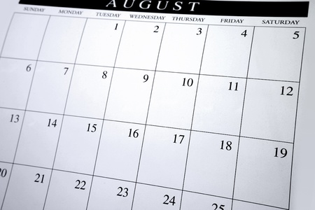 Closeup of numbers on calendar page Stock Photo - 9674018
