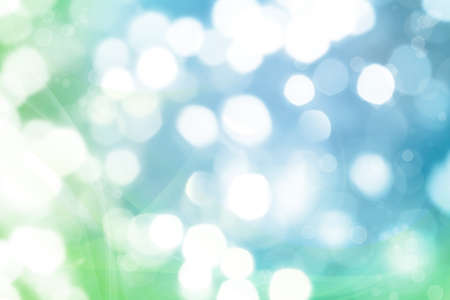 blurry lights: Blue and green tone blurry lights