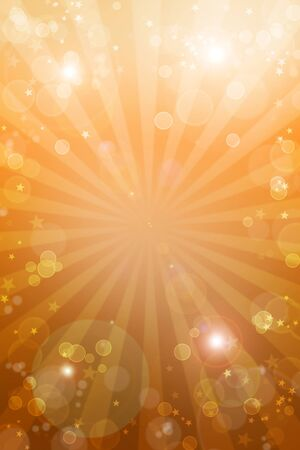 detonation: Bright orange tone galaxy background