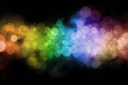Abstract colorful circles on black background Stock Photo - 9788500