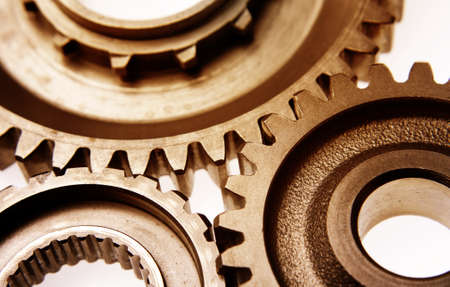 Three gears meshing together Stock Photo - 9788528
