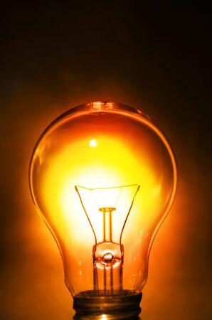 Bright light bulb photo