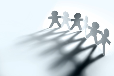 business collaboration: Group of people holding hands